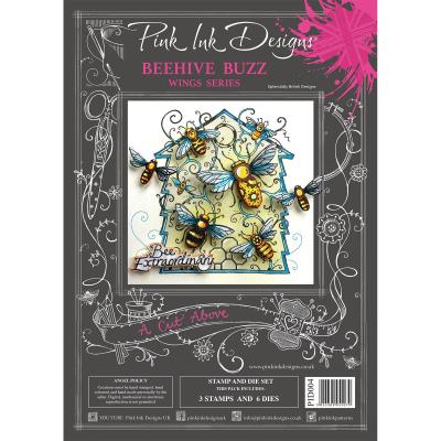 Creative Expressions Pink Ink Clear Stamps & Die - Beehive Buzz