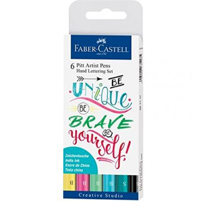 Faber Castell Handlettering Pens - Be Unique, Be Brave