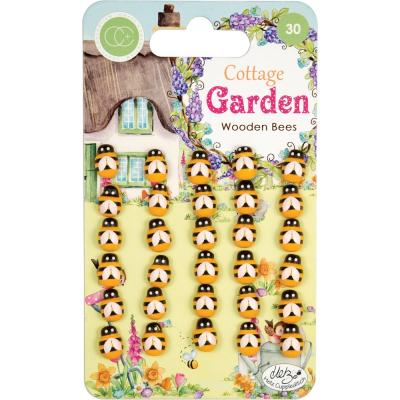 Craft Consortium Cottage Garden - Wooden Bees