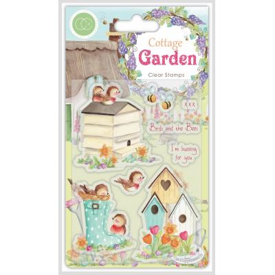 Craft Consortium Cottage Garden Clear Stamps - Birds and the Bees