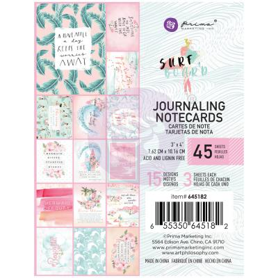 Prima Marketing Surfboard - Journaling Cards 3 x 4