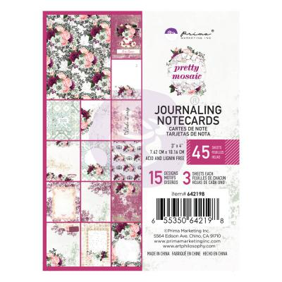 Prima Marketing Pretty Mosaic - Journaling Cards 3 x 4