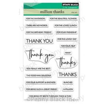 Penny Black Clear Stamps - Million Thanks