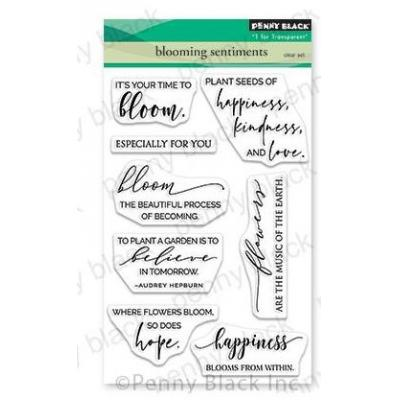 Penny Black Clear Stamps - Blooming Sentiments