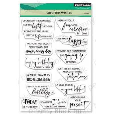 Penny Black Clear Stamps - Carefree Wishes