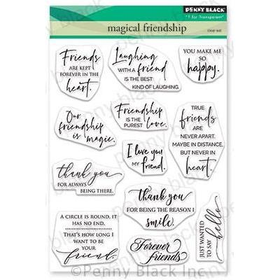 Penny Black Clear Stamps - Magical Friendship