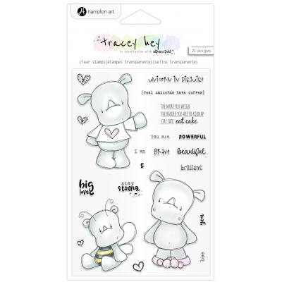 Hampton Art Clear Stamps - Rhino Rascals
