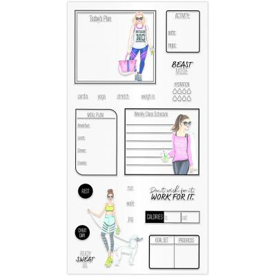 Hampton Art Clear Stamps - Fitness Planner