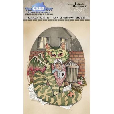 The Card Hut Crazy Cats Clear Stamps - Grumpy Guss