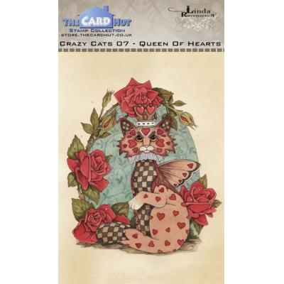 The Card Hut Crazy Cats Clear Stamps - Queen of Hearts