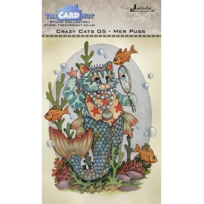 The Card Hut Crazy Cats Clear Stamps - Mer Puss