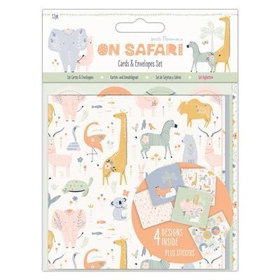 Papermania On Safari - Cards & Envelope Set
