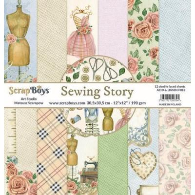ScrapBoys Sewing Love Designpapier - Paper Pad