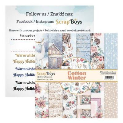 ScrapBoys Cotton Winter Designpapier - Paper Pad