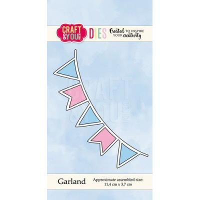 Craft&You Design Cutting Die - Flaggengirlande