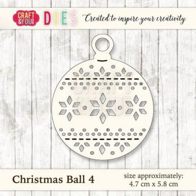 Craft&You Design Cutting Die - Weihnachtskugel