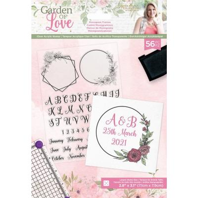 Crafter's Companion Garden of Love Clear Stamps - Monogram Frames