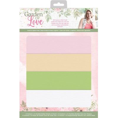 Crafter's Companion Garden of Love - Luxury Linen Card