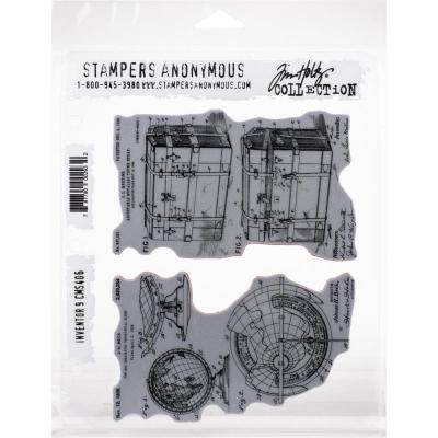 Stampers Anonymous Tim Holtz Cling Stamps -  Inventor 9