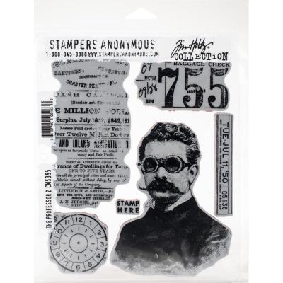 Stampers Anonymous Tim Holtz Cling Stamps - The Professor 2