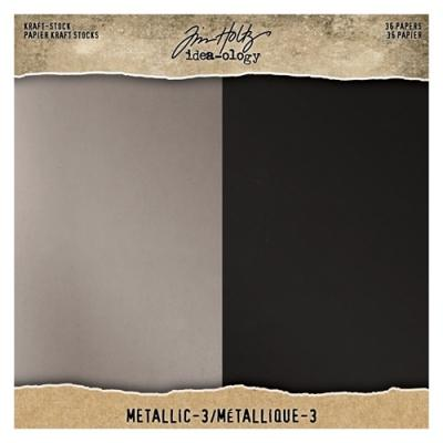 Idea-ology Tim Holtz Kraft-Stock - Champagne and Onyx