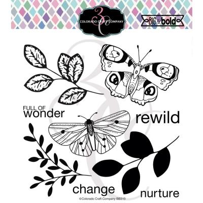 Colorado Craft Clear Stamps - Blissful Butterflies