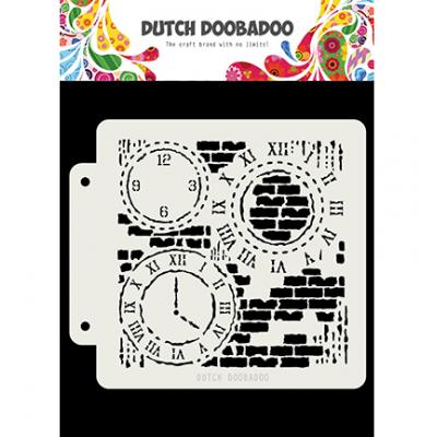 Dutch Doobadoo Dutch Mask Art Stencil - Grunge Clock