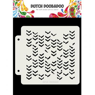 Dutch Doobadoo Dutch Mask Art Stencil - Grunge Chrevrons