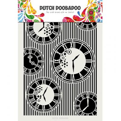 Dutch Doobadoo Mask Art Stencil - Clocks Stripes
