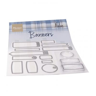 Marianne Design Clear Stamps & Dies - Banners