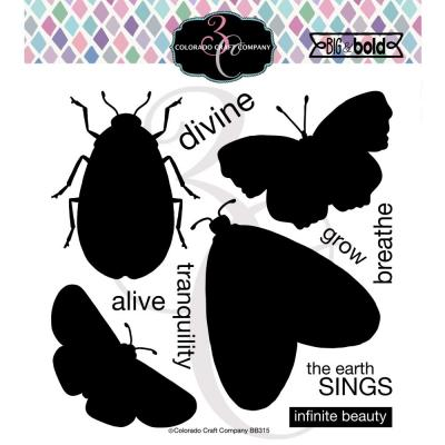 Colorado Craft Clear Stamps -  Insect Solid