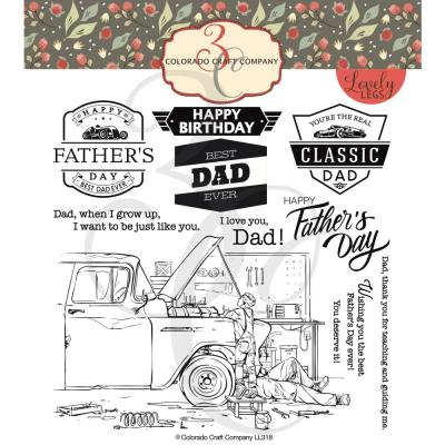 Colorado Craft Clear Stamps - Father & Son