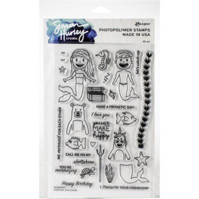 Simon Hurley Create Cling Stamps - Mythical Mermaids