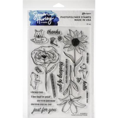 Simon Hurley Create Cling Stamps - Flower Picking Friends