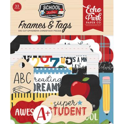 Echo Park School Rules Die Cuts - Frames & Tags