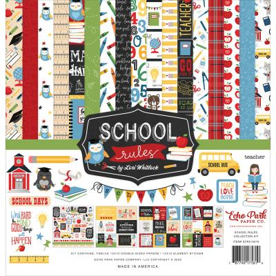 Echo Park School Rules Designpapier - Collection Kit
