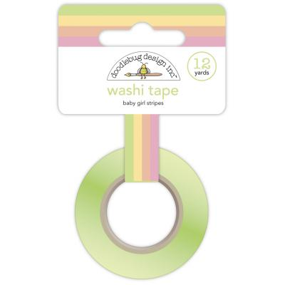 Doodlebug Baby Girl Washi Tape - aby Girl Stripes