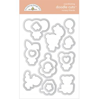 Doodlebug Baby Girl Doodle Cuts - Nursery Friends