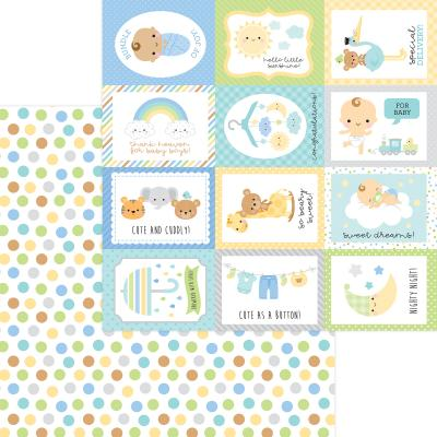 Doodlebug Baby Boy Designpapier - Play Time