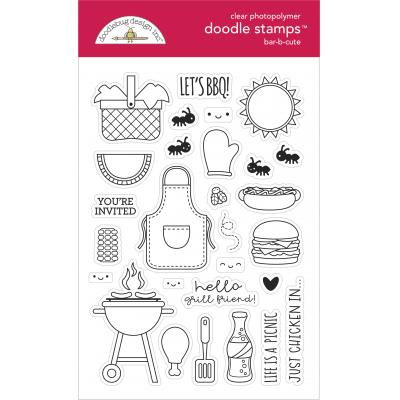 Doodlebug Bar-B-Cute Clear Stamps - Doodle Stamps
