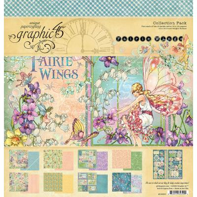 Graphic 45 Fairie Wings Designpapier - Collection Pack