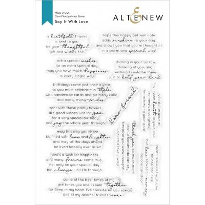 Altenew Clear Stamps - Say It With Love