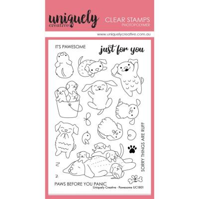 Uniquely Creative Clear Stamps - Pawesome
