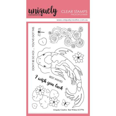 Uniquely Creative Clear Stamps - Best Wishes