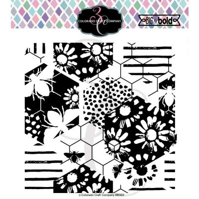 Colorado Craft Clear Stamp - Daisy & Bee-Big & Bold