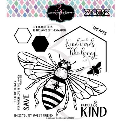 Colorado Craft Clear Stamps - Honey Bee-Big & Bold