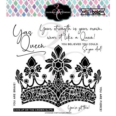 Colorado Craft Clear Stamps - A Queen's Crown-Big & Bold
