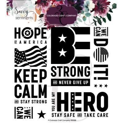Colorado Craft Clear Stamps - American Strong-Savvy Sentiments