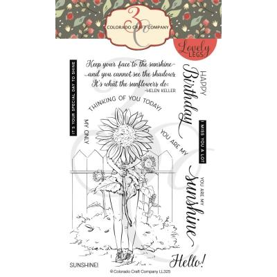 Colorado Craft Clear Stamps - Summer Season Sunflowers-Lovely Legs