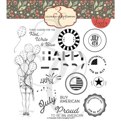 Colorado Craft Clear Stamps - Red, White & Blue-Lovely Legs